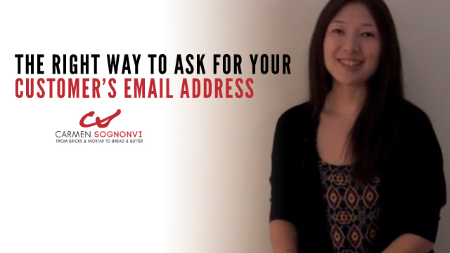 How to Ask for Your Customer's Email Address… and Actually Get It!