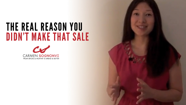 The REAL Reason You Didn't Make That Sale (Your Prospect Will Never Tell You This!)