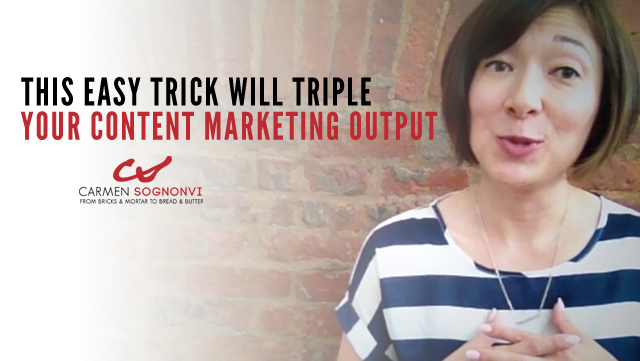 This Easy Trick Will Triple Your Content Marketing Output